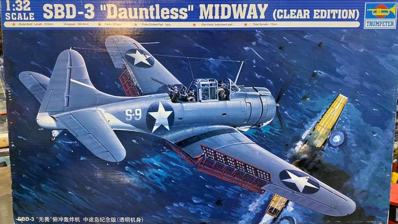 【AY 】SBD-3 《中途島紀念版》透明機身 比例 1/32 組裝模型 02244 Trumpeter