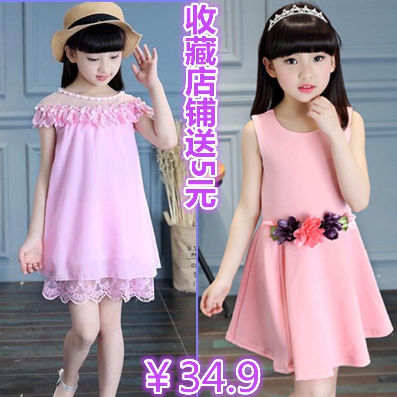 夏季12女童裝連衣裙11純棉短袖10小學生9中大童公主裙子5-6-7-8歲