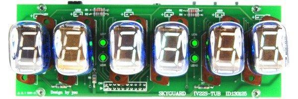 《 IV-22 VFD Tube Clock 》《 數字時鐘套件 》Nixie 輝光管 真空管 顯示器 數字管