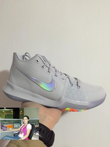 separation shoes 70f78 1dd55 KYRIE 3 TS EP 852414 001 白炫彩 歐文3 限量配色