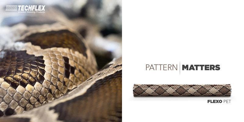 蛇紋-美國Techflex FLEXO PTN0.25SK電線 電纜線材 套管(隔離網/編織網)-1ft