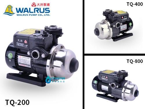 【清淨淨水店】大井泵浦 TQ200 1/4HP x 1 抽水馬達 電子穩壓加壓馬達 加壓機 低噪音不擾鄰3850元。