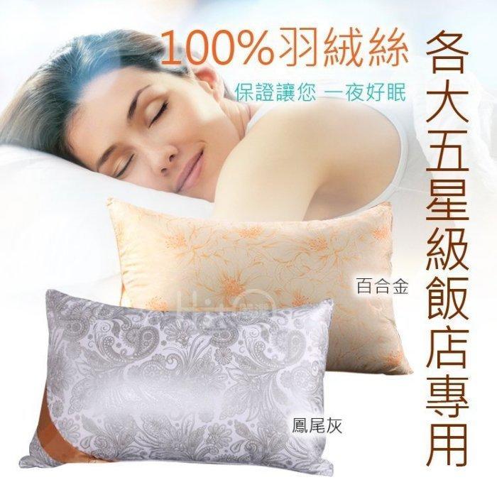五星級飯店專用枕頭~100%羽絨枕/羽絲絨枕 羽絲絨枕 非獨立筒 記憶 乳膠床墊 床包 保潔墊 被套 竹炭枕 乳膠枕
