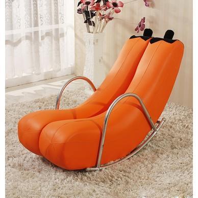 躺椅懶人沙發單人陽臺臥室小沙發迷你可愛現代簡約創意香蕉逍搖椅