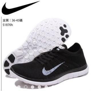 online retailer eec67 7e72c 球鞋補習班 US5~US12 NIKE FREE RN FLYKNIT 2017 黑 編織 4.0 慢跑鞋 黑白 男生