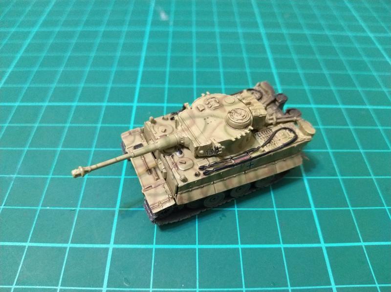 WTM 戰車博物館 第7彈 德軍虎式戰車 #133 雙色迷彩 庫斯克戰役(1/144)無盒,單售