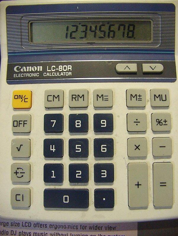 Canon LC-80R 計算機
