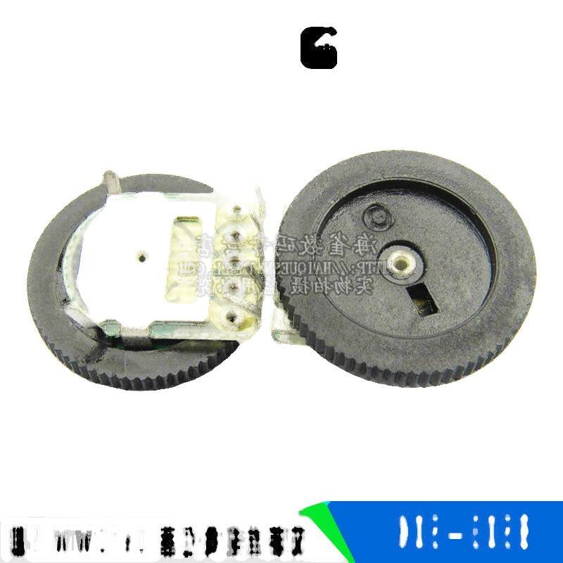雙聯齒輪電位器 50K 16*2MM B503 5腳 撥盤電位器 一件5個 221-01166