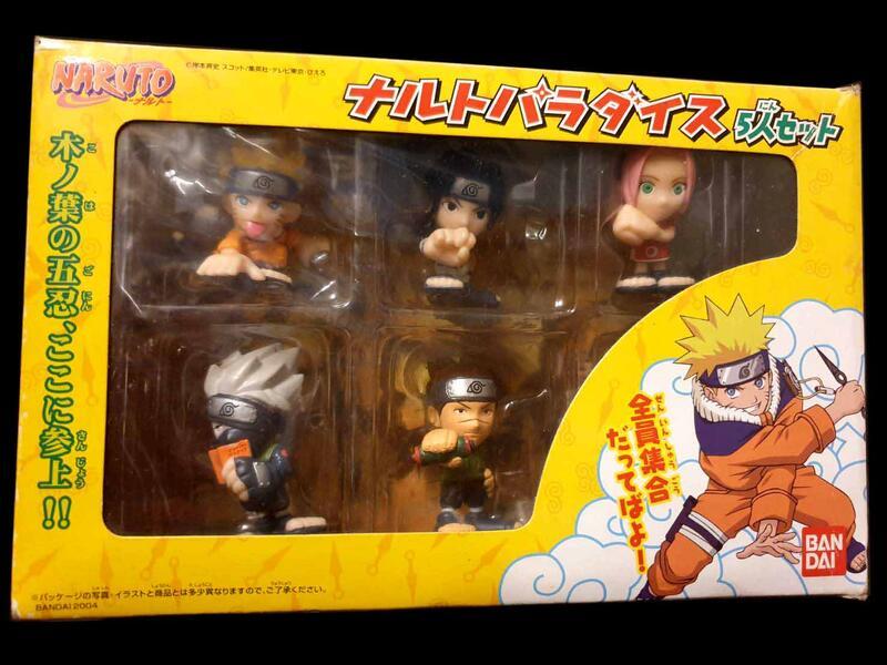 C-20 : 2004 火影忍者 NARUTO PARADISE 鳴人 佐助 卡卡西 春野櫻 伊鲁卡 5入  富貴玩具店