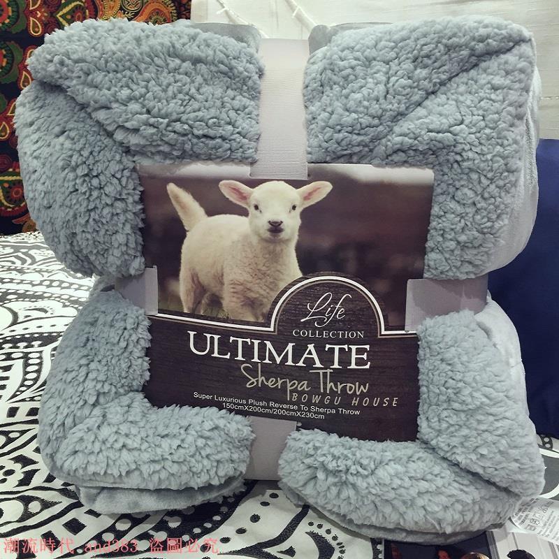 出口美國雙面毛毯子秋冬季加厚床單蓋毯沙發毯午睡毯正品原單貨源