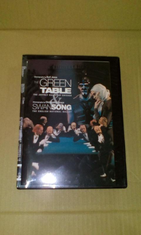 芭蕾舞DVD 綠桌 編舞 佑斯 天鵝之歌 編舞:布魯斯 Swan Song 附贈中英文導讀手冊 籍字櫃