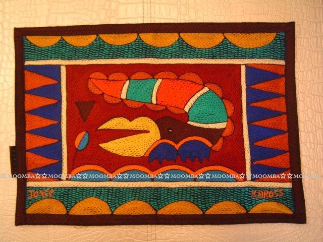 ☆MOOMBA☆ South Africa 南非 KAROSS 品牌 手工 繡花 動物 花卉 刺繡 厚 布質 餐墊 HAND EMBROIDER PADDED PLACEMATS #768