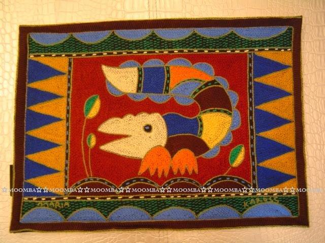 ☆MOOMBA☆ South Africa 南非 KAROSS 品牌 手工 繡花 動物 花卉 刺繡 厚 布質 餐墊 HAND EMBROIDER PADDED PLACEMATS #770