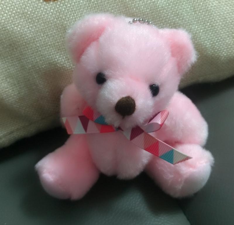 粉紅熊 玩偶 吊飾(手腳可轉動)