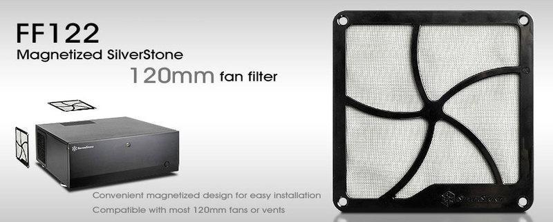 【機殼濾網】銀欣FF122 細緻的風扇濾網,有效的隔絕灰塵 涵蓋大部分12公分以下出風口