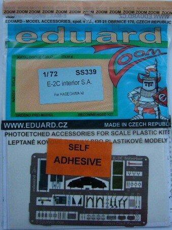 【模界】eduard 1/ 72 牛魔王 E-2C interior S.A.儀表•座艙蝕刻片 SS339