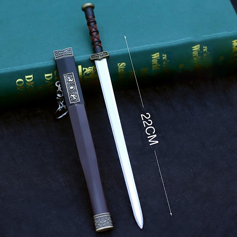 中國古代名劍漢劍 22cm(長劍配大劍架.此款贈送市價100元的大刀劍架)