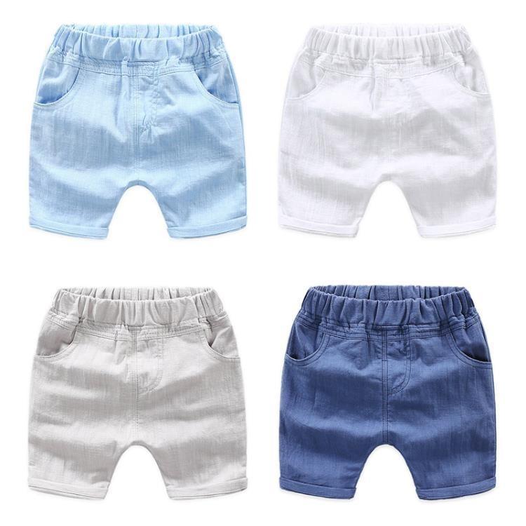 【可開發票】寶寶純色短褲 2019夏裝新款男童童裝兒童五分褲子哈倫褲kz-b080—聚優購物網