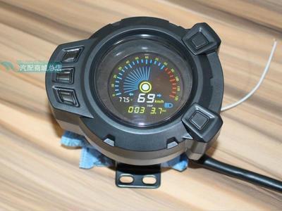 電動車摩托車BWS地雷碼表改裝速度里程儀表48-72V/72-120V彩屏