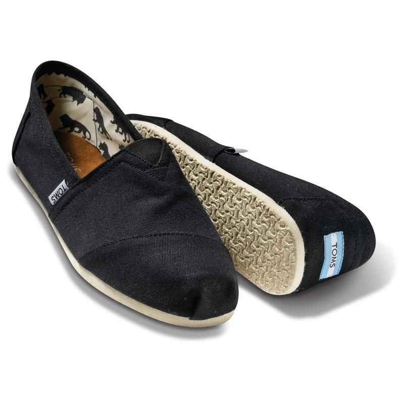 大尺碼 現貨 出清  零碼鞋全新 美國正品TOMS鞋經典素面【女鞋-黑】