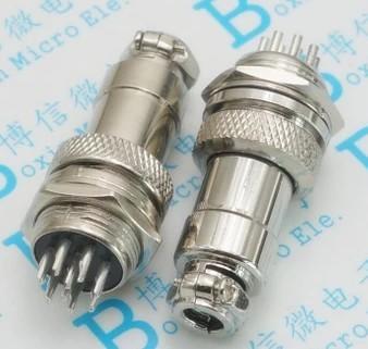 [二手拆機][含稅]GX16- 插座 插頭插座 接頭GX16-9芯 插頭