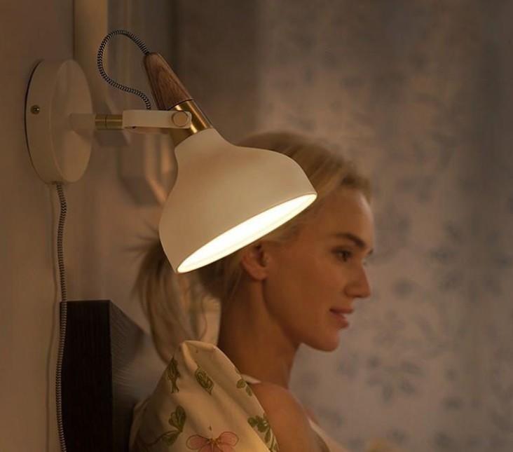 北歐現代床頭化妝壁燈 簡約復古臥室走道閱讀燈背景燈(含燈泡) by 我型我色