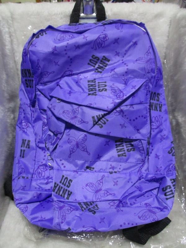 ANNA SUI 安娜蘇紫戀時尚 浪漫甜心 紫色後背包