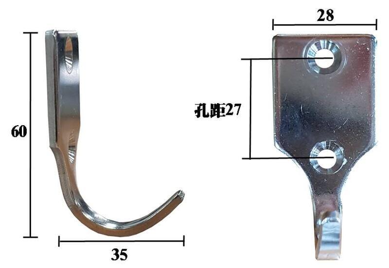 D36-1 不鏽鋼 掛勾 掛鉤 衣帽勾 吊鉤 平勾 鉤子 勾子