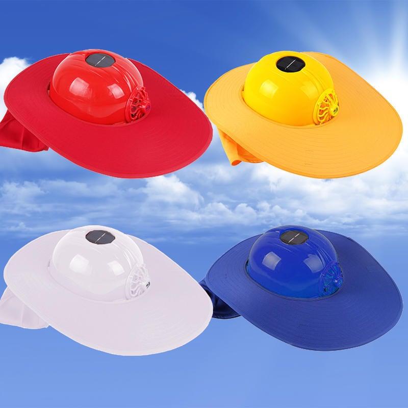 🚚<現貨>【遮陽板+帽子】3dMore®正品高感度太陽能面板轉化太陽能工程帽扣工地帽襯安全帽帶