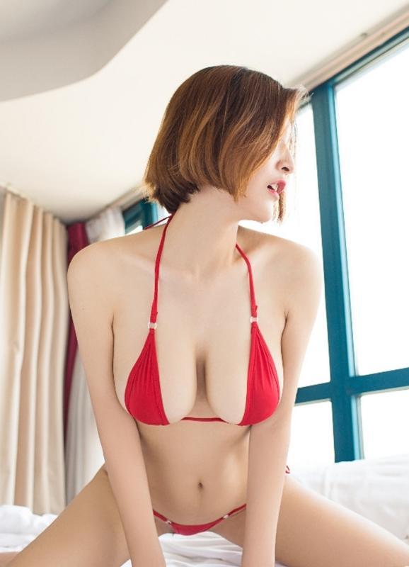 *日式寫真泳衣*  布面*超小綁帶比基尼 迷你比基尼 三點式 迷你比基尼情趣內衣套裝誘惑性感比基尼 丁字褲