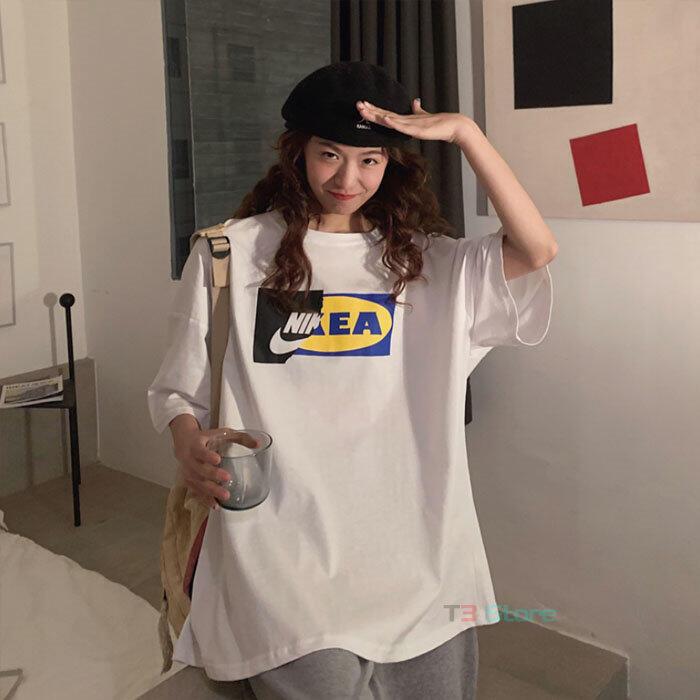 【T3】台灣出貨 翻玩系列  ikea x NI Just Do Not 短T 塗鴉短袖 五分袖 情侶衣【MT56】