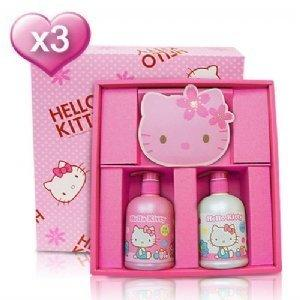 Hello Kitty 兒童抗菌禮盒-含紙袋(1洗1沐1櫻花皂)3盒