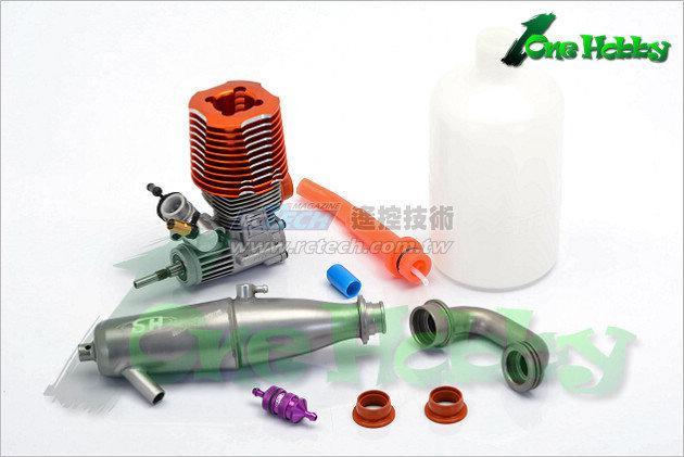 《One Hobby》佶宏SH PT007 1/8越野車用21級引擎,全套裝超值動力組