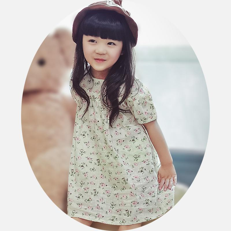 2016女童裝4夏裝5新款全棉連衣裙6兒童7韓版8夏季9短袖10歲中大童