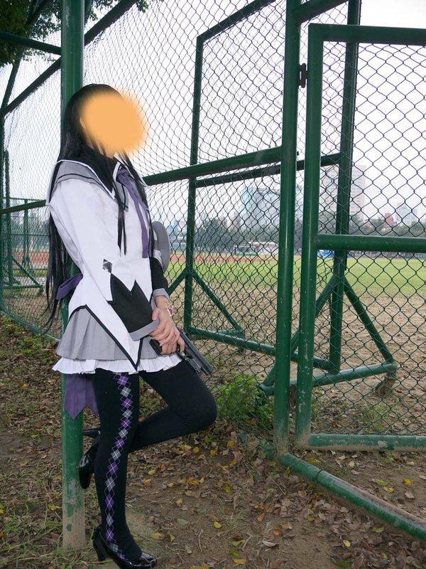 ♥緋桜小舖♥COSPLAY出租-魔法少女小圓 曉美 焰  戰鬥服 時之盾牌