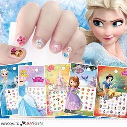 八號倉庫【1F000M896】 迪士尼正版兒童指甲貼紙 冰雪奇緣2 公主系列 史迪奇 美甲貼 買10送1