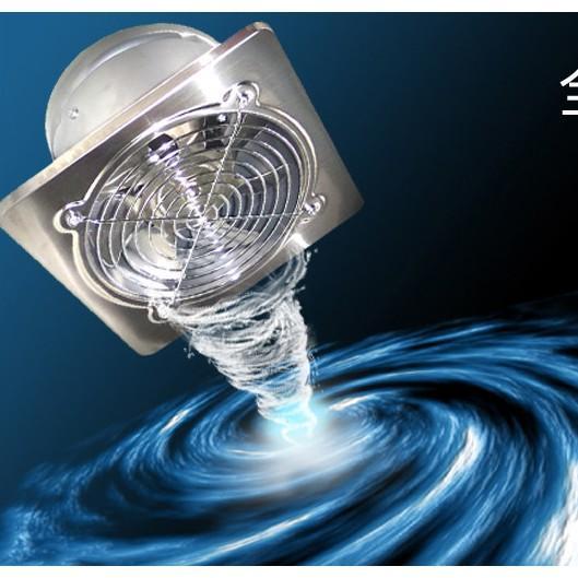 不銹鋼排氣扇廚房排煙扇衛生間換氣扇強力抽風機6寸牆窗式排風扇