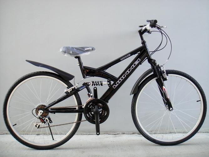 『 聯美自行車 LIANMEI 』DS518藍/黑~26吋18速前後避震登山車.學生通勤、外勞代步摸彩贈獎~工廠直營