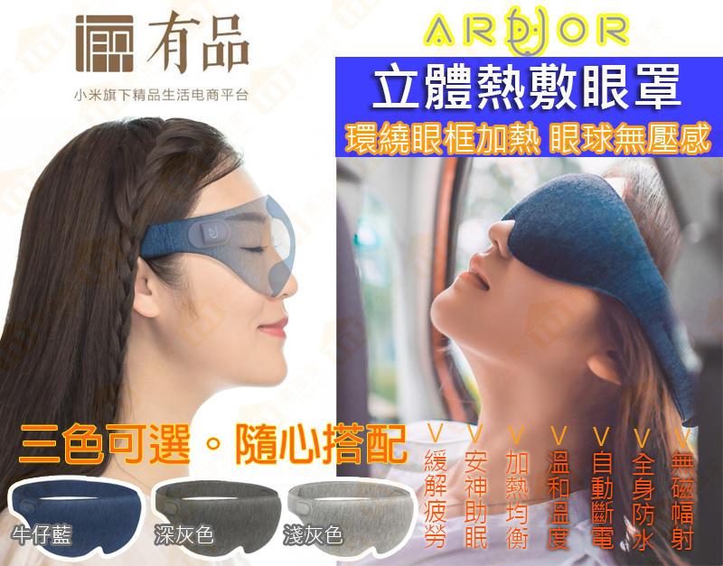 現貨供應! 小米有品 阿多 立體熱敷眼罩 USB眼罩 USB熱敷眼罩 SPA 護眼 去眼袋 黑眼圈 眼膜 非花王蒸氣眼罩