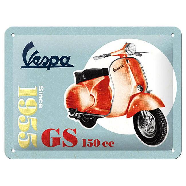 【德國Louis】Vespa GS150金屬牌 德國製偉士牌馬口鐵牌摩托車重型機車復古經典舊化工業風裝飾10014032