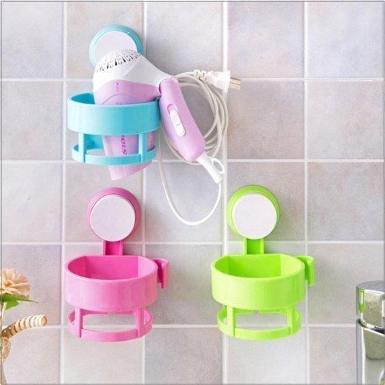 吸盤掛壁電吹風機架 浴室置物架 角架 浴室收納置物架子 收納架 牙刷架 衛生紙架
