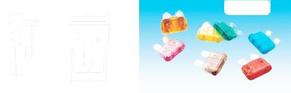 汽車保險管 氙氣燈保險絲 中號 中片 保險插片 15A 10隻 221-01324