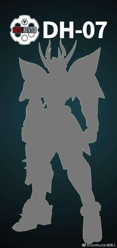預定 獵模人 1/72  白色武者 合金骨架 完成品 Devil Hunter DH-07 鋼彈 戰國 三國 魔神英雄