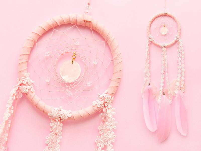 捕夢網 - diy材料包★粉紅色★夢幻款 - 繼承者們款式 - 情人節禮物、聖誕禮物、交換禮物、生日禮物、畢業禮物最佳選
