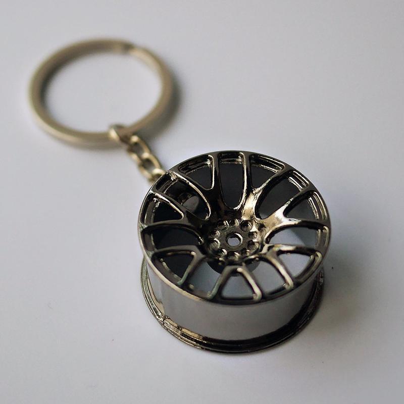 鋁圈造型鑰匙圈 合金金屬賽車輪圈 16吋 17吋 18吋 19吋 馬3汽車吊飾 類BBS 7爪輪框