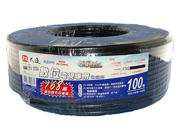 【紘普】PX大通5C168-100M 168編織同軸電纜線