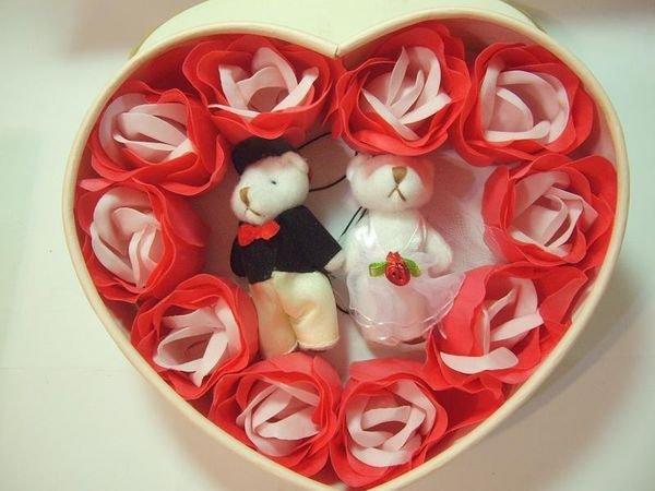 結婚禮小物*含燙金雪紗袋*玫瑰花型皂伴手禮盒包裝喝茶禮送客禮姊妹禮工商贈品