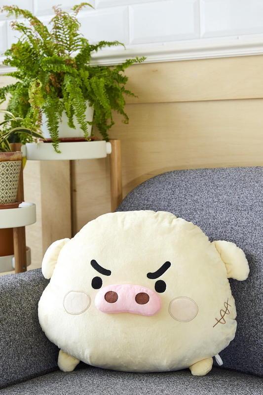 特價 熊秋葵 噗大叔豬  頭型抱枕 午安枕 靠枕 禮物 刀疤豬 豬頭