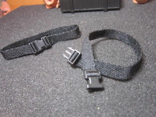 J3經理裝備 1/6黑色快扣腰帶一條 mini模型
