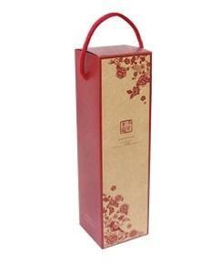 牛皮酒盒 喜鵲剪花 (單瓶裝) 10入~天作之盒,手工皂盒,紙盒,紙袋,年節禮盒,包裝盒
